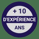 10 ans d'expérience